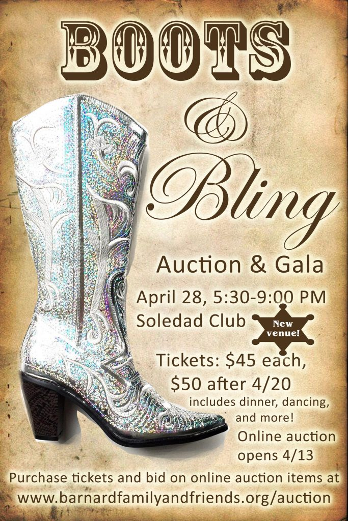 Auction 2018 \u2013 Boots and Bling \u2013 Barnard Friends and Family